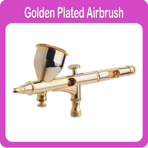Golden Airbrush Double Action with Air Regulator At The Head