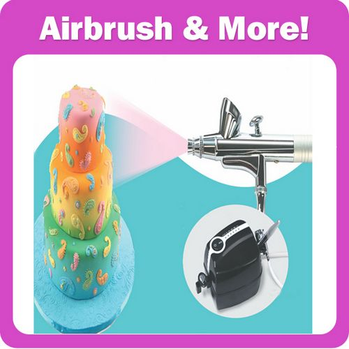 Cake decoration airbrush kit with mini compressor china for Airbrush cake decoration
